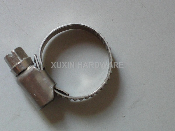 None perforate hose clamp