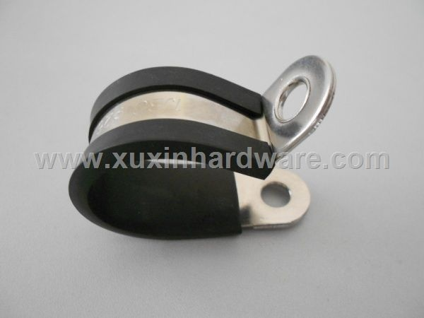 Rubber Covered steel clamp