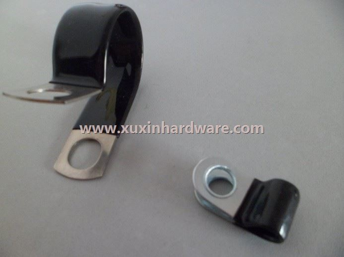 stainless steel P clips with PVC coating treatment