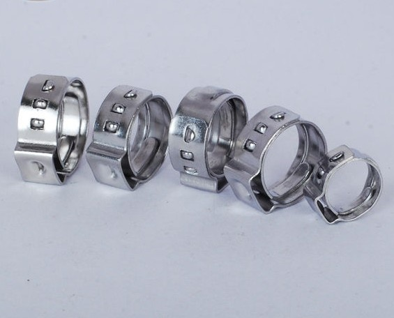 Stainless steel one ear swivel pinch clamp