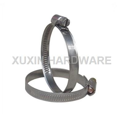 German style worm driver galvanized hose clamp