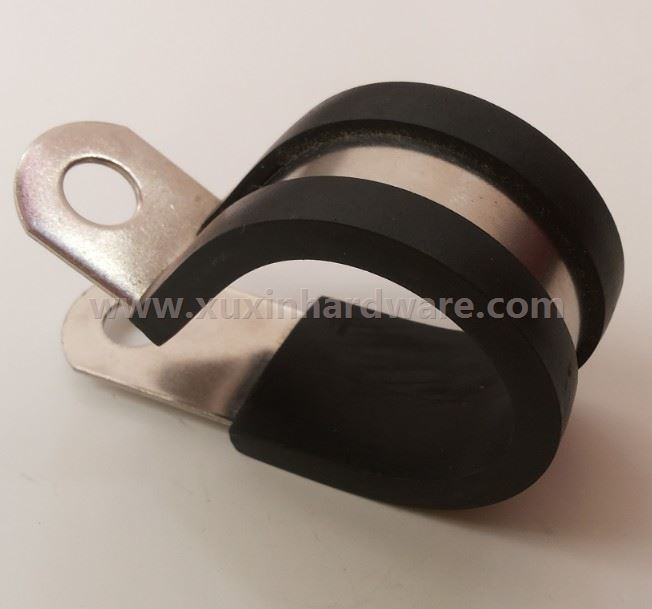 zinc plated tube clamping with rubber coated