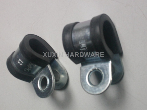 P type hose clamps with rubber lined