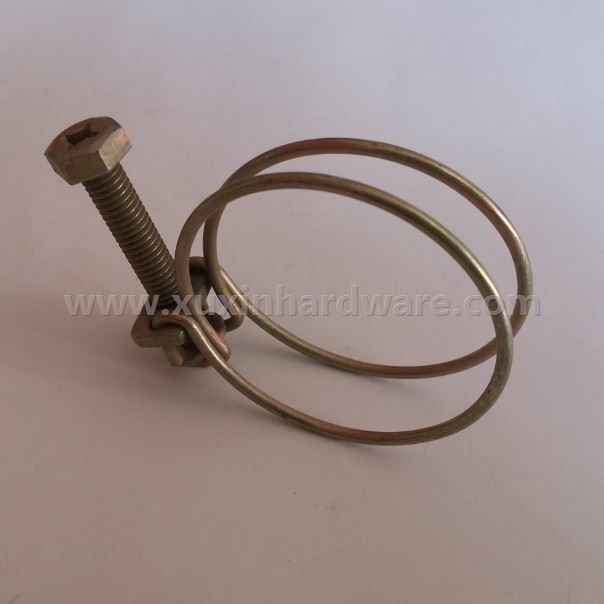 2 WIRE MANGANESE STEELL HOSE PIPE CLAMP