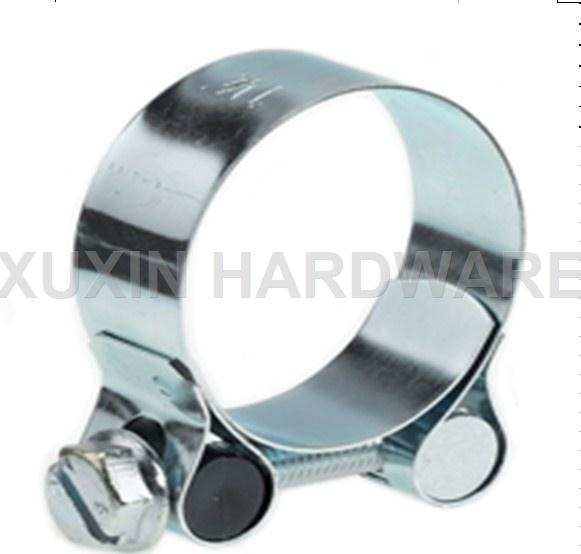 Heavy duty unitary solid nut hose clamp