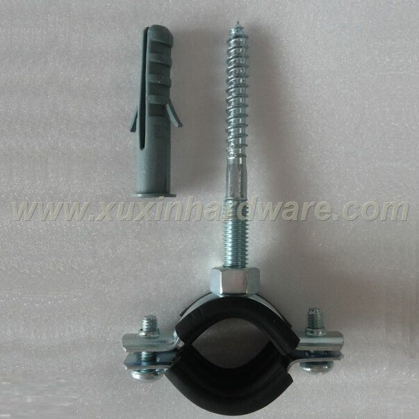 CEILINGS AND FLOORS USED PIPE CLAMP WITH PROFILE RUBBER AND NYLON PLUG