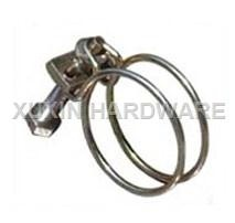 stainless steel double wire hose clip & clamp
