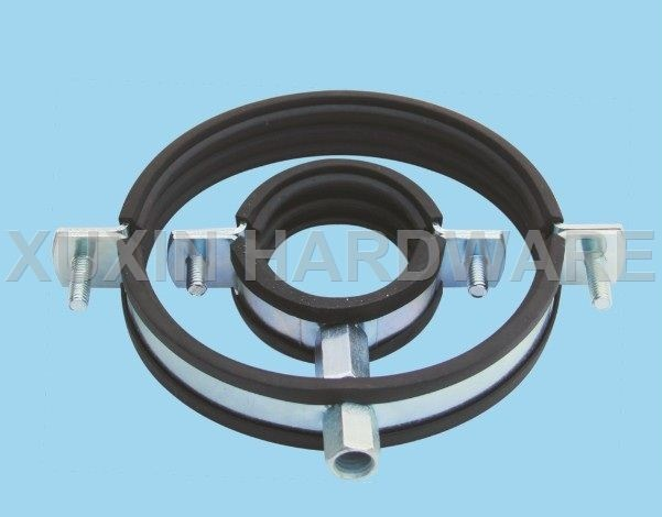Pipe holder with rubber ,pipe hanger with rubber