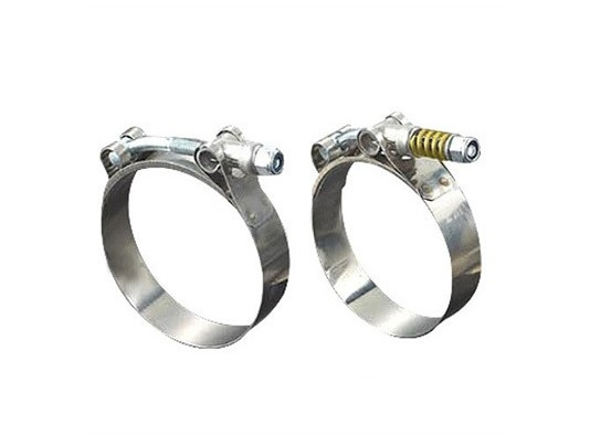 Heavy duty spring loaded t bolt clamps