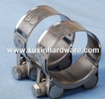 W4 stainless steel solid bolt super loading hose clamp