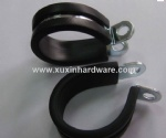 rubber lined P type hose clamp pipe clamp