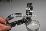 Standard American pipe clamps for gas hose