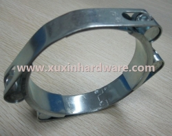 double bolt heavy duty hose clamp