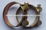 zinc plated one solid bolt hose clamp