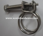 Super stainless steel wire pipe hose clamps