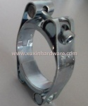 Malleable steel flexible 2 bolt  hose clamp