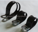 Vinyl coated tube pipe clamp
