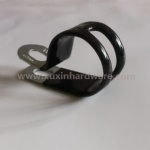 black vinyl coated hose clamp with slot band