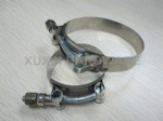 T bolt heavy duty stainless steel hose clamp & clips