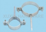 standard hose clamp with hanger bolt and welding nut
